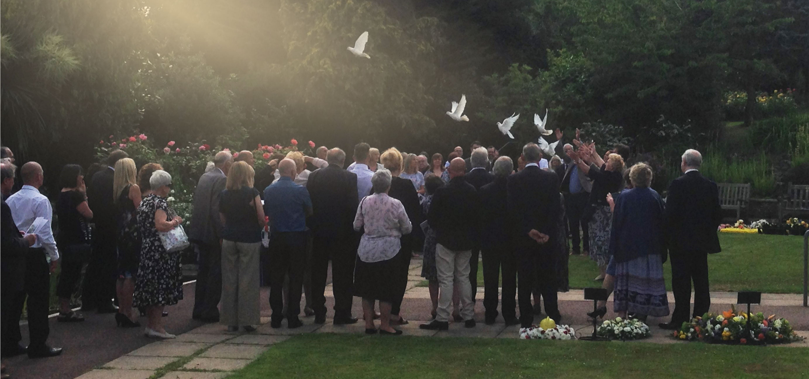 Funeral Service in Hailsham releasing white Doves